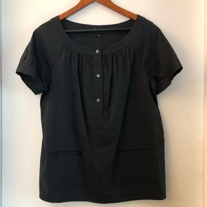 Theory black tunic with pockets size large